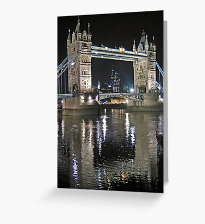 Tower Bridge reflections Greeting Card