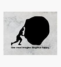 Sisyphus - Albert Camus Photographic Print