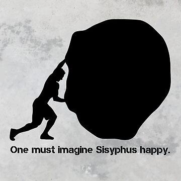 Sisyphus - Albert Camus by 5pennystudio