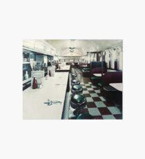 Retro American Diner 1950s Art Board