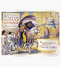 Programm für den Frauenmarsch in Washington 1913 Poster