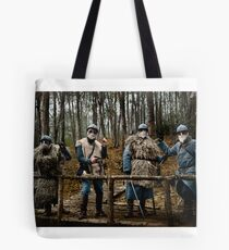257th Infantry Regiment officers in the forest of Sainte-Marie, Bezange, 1916 Tote Bag