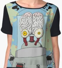 Brains from Space Chiffon Top