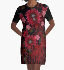 Red Ginger Design Graphic T-Shirt Dress
