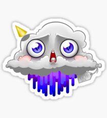 Peeing Cloud Sticker
