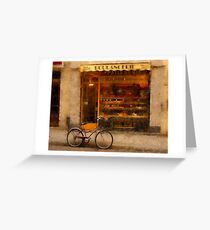 Boulangerie & Bike Greeting Card