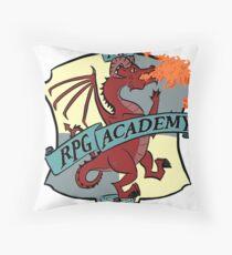 The RPG Academy Podcast logo Throw Pillow