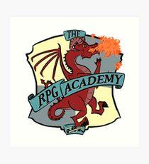 The RPG Academy Podcast logo Art Print