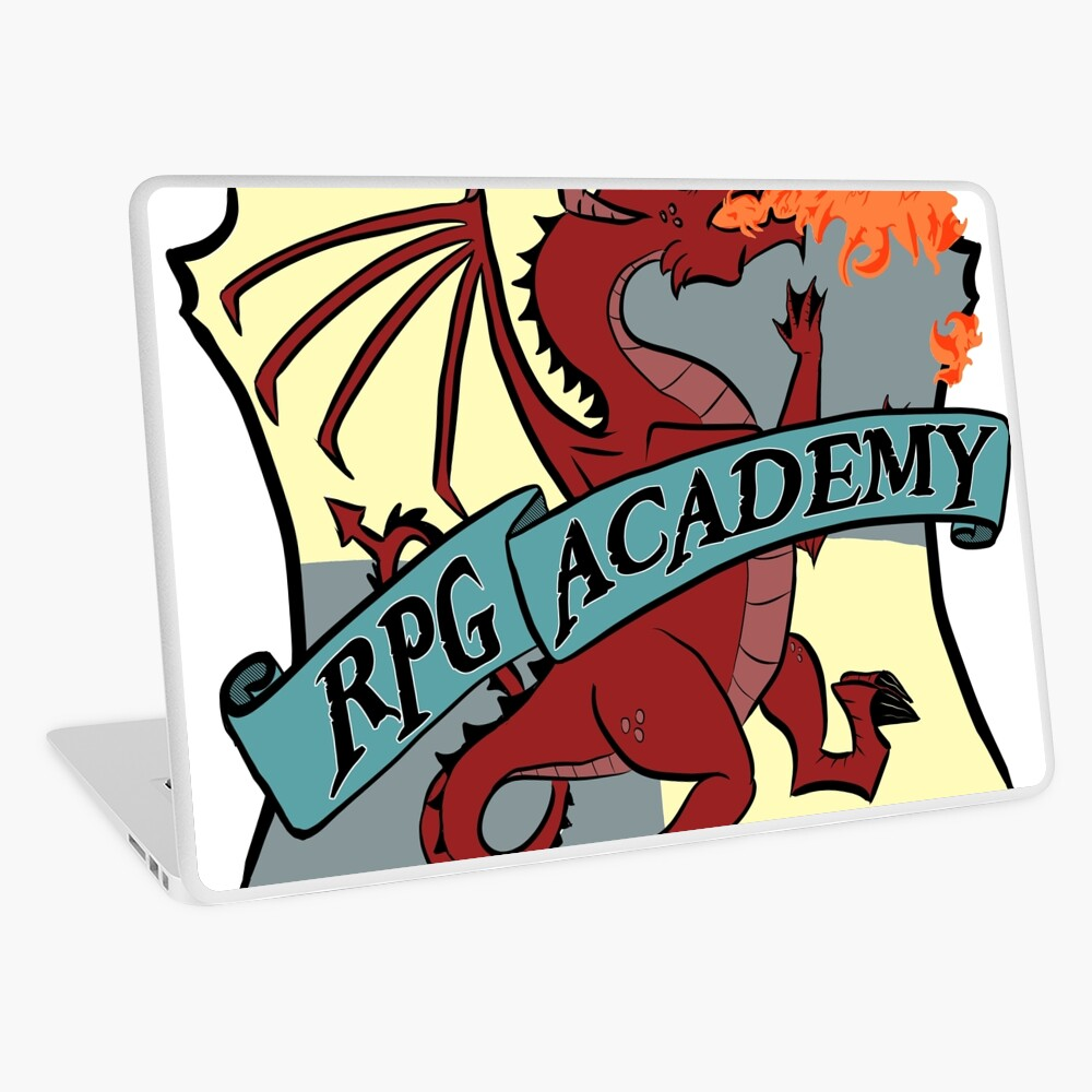 The RPG Academy Podcast logo Laptop Skin