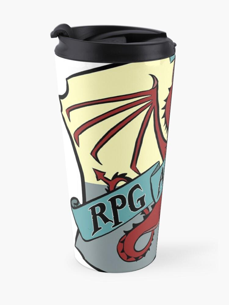 Alternate view of The RPG Academy Podcast logo Travel Mug
