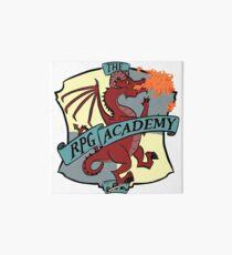 The RPG Academy Podcast logo Art Board Print
