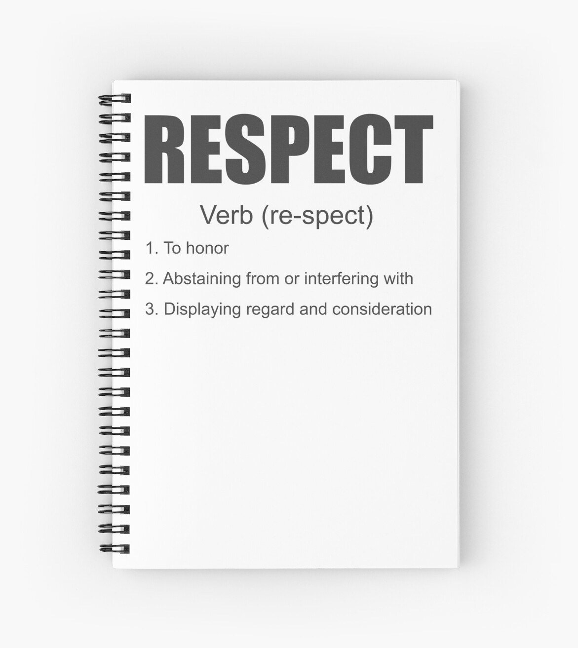definition respect