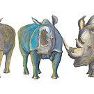 Rhinos Scaler, Puff & Bosshog by AJLeibengeist