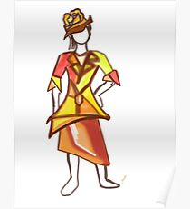 Sun color dress Poster