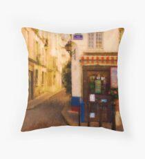 Cafe on the Rue des Ursins Throw Pillow