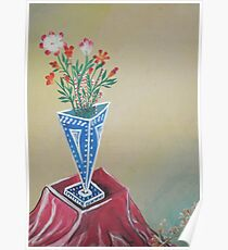 Flowers in the Triangular Pot  Poster