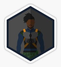 Killmonger Character Icon Fanart Sticker