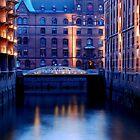 Speicherstadt Hamburg at Sunset by Imi Koetz