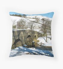 Bridge to Askrigg over the River Swale Throw Pillow