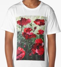 Poppies Long T-Shirt