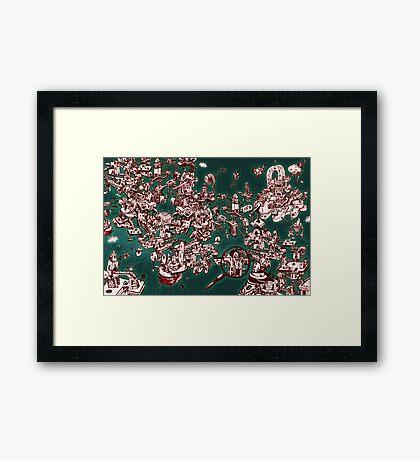 Sky Maze Ink - Green - 1 Framed Print