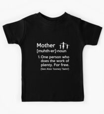 Mother Definition Dictionary Kids Tee