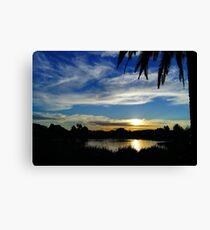 Sunset, Fairways, Craigieburn  Canvas Print