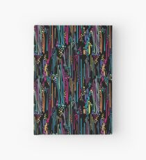 Black Rainbow Doodle & Dot Hardcover Journal