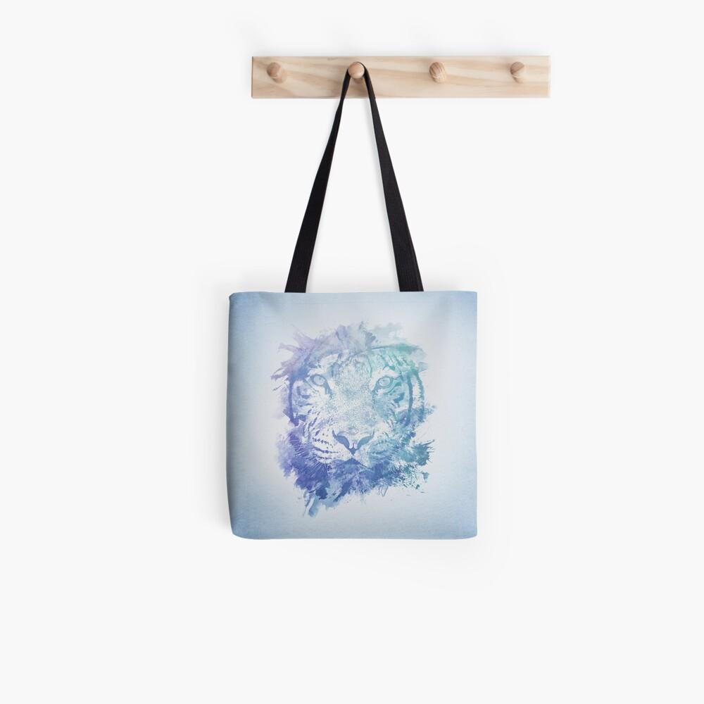 Abstraktes Aquarell Tiger Portrait / Face Tote Bag