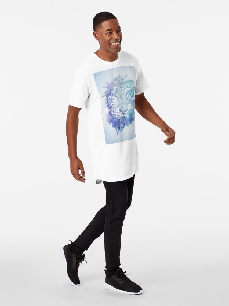 Alternative Ansicht von Abstraktes Aquarell Tiger Portrait / Face Longshirt