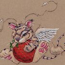That Critter certainly Likes Strawberries by justteejay