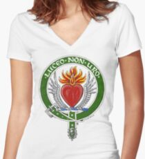 Clan Smith Scottish Crest Women's Fitted V-Neck T-Shirt