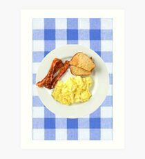 Ron Swanson Breakfast  Art Print