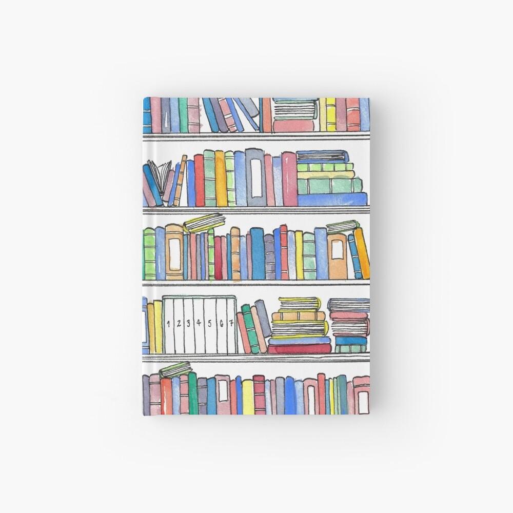 Rainbow Bookcase Hardcover Journal