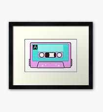 Back to the 80's Cassette Tape Framed Print