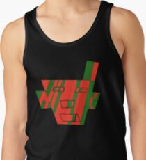 Faced The First (Facemadics colorful contemporary abstract face) Tank Top