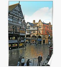 Chester Cross from Eastgate Row Poster