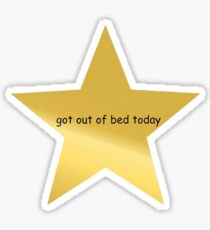 heute stieg Goldstern aus dem Bett Sticker