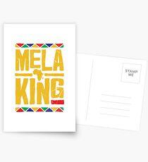 Melaking Melaninkönig Strong Black African American Men & Boys Postkarten