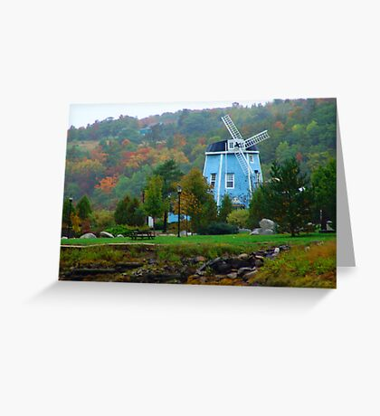 Misty Day in Bear River Greeting Card