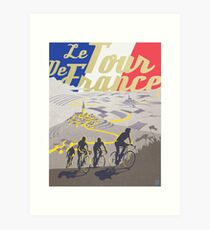 Le Tour de France retro poster Art Print