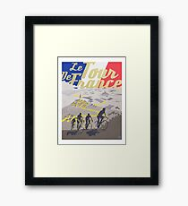 Le Tour de France retro poster Framed Print
