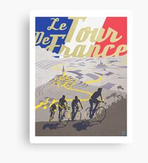 Le Tour de France retro poster Canvas Print