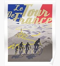 Póster Cartel retro de Le Tour de France