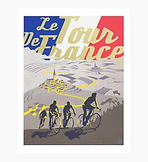 Le Tour de France retro poster Photographic Print