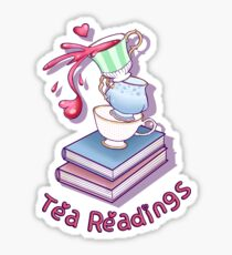 Tea Readings with Text Sticker