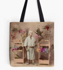 Japanese flower seller Tote Bag