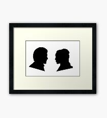 Jaime and Cersei Lannister Silhouette Profiles Framed Print