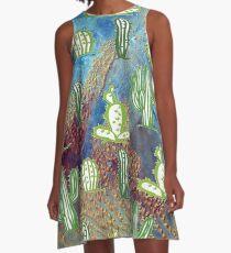 Cactus Shower Curtain Dresses