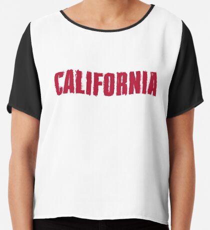 California Distressed Style Chiffon Top